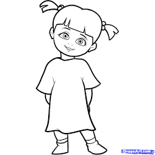 Character Coloring Pages Monsters Inc Characters Disney Free Book