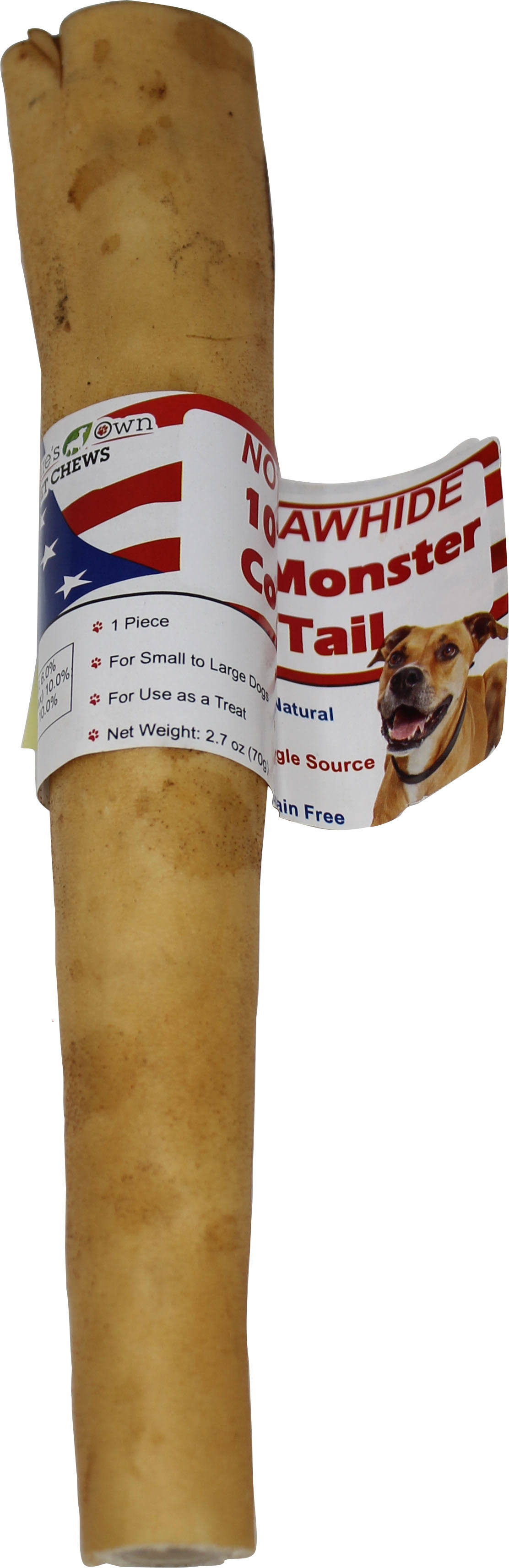 Best Buy Bones USA Not-rawhide Monster Cow Tail Chew Treat 15 ct. 72