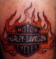 Bike Tattoo In Flames