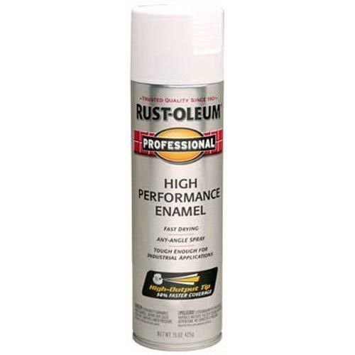 Rust-Oleum 7590838 High Enamel Spray Paint - Flat White, 15oz