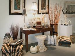Safari Themed Living Room Decor by Living Room With Sectional Sofa And African Decor Exotic And