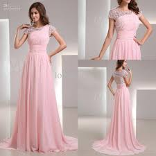 wholesale gorgeous crew light pink crystal lace short sleeve long