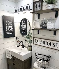 this industrial farmhouse bathroom is the blend of
