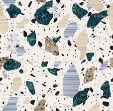 Green Cream Terrazzo Pattern