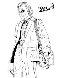 Joker Coloring Pages Mr