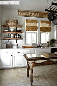 Love How This Wooden Sign Above The Kitchen Windows Matches Blinds
