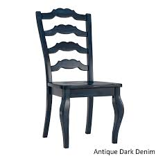 Amazon.com - Inspire Q Eleanor French Ladder Back Wood Dining Chair ... Antique Set Of 12 French Louis Xv Style Oak Ladder Back Kitchen Six 1940s Ding Chairs Room Chair Metal Oak Ladder Back Chairs Avaceroclub Fniture Classics Solid Wood Wayfair 10 Rush Seat White Painted Country Shabby Chic Cottage In Theodore Alexander Essential Ta Farmstead A 8 Nc152 Bernhardt Woven