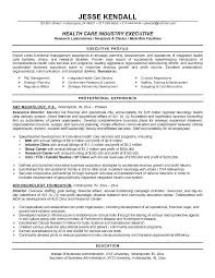 Sample Profile In Resume Good Examples For Healthcare Industry Executive Also Write A Career
