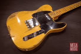 Fender Custom Shop 53 Heavy Relic Telecaster Electric Guitar In Butterscotch Blonde