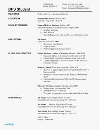 Resume Examples For Highschool Students 20 High School Sample Templates