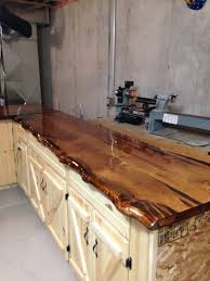 Log Cabin Kitchen Backsplash Ideas by Live Edge Pine Slab Counter Tops Log Cabin Ideas Pinterest