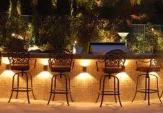 lighting an outdoor kitchen