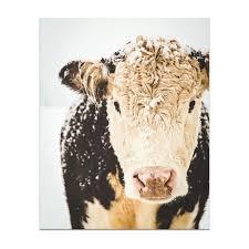 Cow Print Art French Country Decor Farmhouse