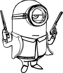 Pin Drawn Gun Coloring Page 5