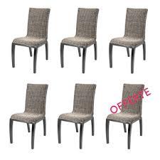 soldes 46 lot de 6 chaises en osier grise liga chaises de