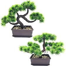 fycooler künstliche bonsai kieferbäume künstliche pflanzen grüne japanische kiefer desktop simulation büro wohnzimmer zen garten dekoration