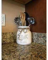 Half Gallon Utensil Holder Mason Jar Kitchen Storage
