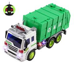 100 Rc Model Trucks Remote Control RC GarbageSanitation Recycling Truck Durable