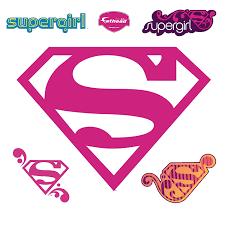 Fathead Princess Wall Decor by Amazon Com Supergirl Logo Wall Graphic Home U0026 Kitchen