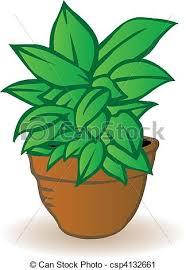 vecteur fleur vert illustration pot fleurs fleur pot