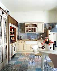 Rustic Style Kitchen With Colorful Tiles