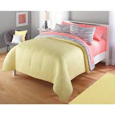 Zebra Room Decor Walmart by My Current Bedding Your Zone Gray And Yellow Zebra Comforter Set