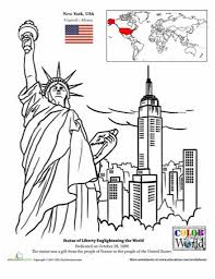 New York City Coloring Page Pages And Regarding