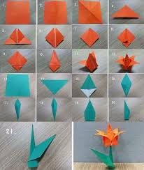 Origami Flower Tutorial For Kids