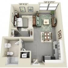 Planos De Apartamentos Pequenos Un Dormitorio Studio Apartment