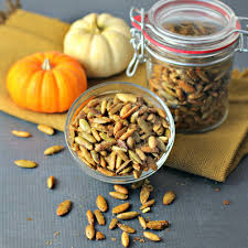 Roasted Hulled Pumpkin Seeds by Sweet And Spicy Pumpkin Seeds Culinary Envy