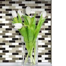Smart Tiles Bellagio Mosaik by Smart Tiles Loft Maronne 10 20 In W X 9 10 In H Peel And Stick