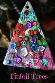 Tin Foil Christmas Tree Ornaments