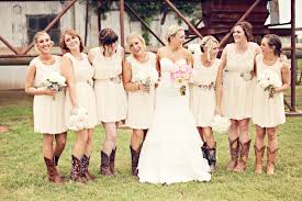 Rustic Sleeveless Wedding Dresses With Boots