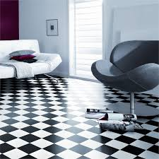 Checkered Vinyl Flooring Roll by Senso Essential 3m Wide Damier Black And White Sheet Vinyl Flooring