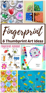 Fingerprint And Thumbprint Art Craft Ideas Projects For Kids Of All Ages
