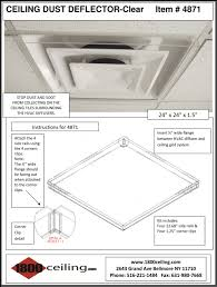 Drop Ceiling Vent Deflector by 24