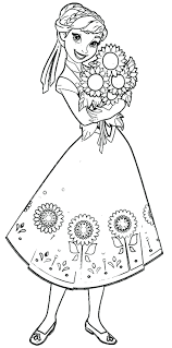 Frozen Coloring Pages Kids Games Online Free Book To Print Anna And Kristoff Family Full