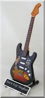 Amazon STEVIE RAY VAUGHAN Miniature Guitar SRV Custom W Name