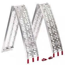 100 Aluminum Loading Ramps For Pickup Trucks New 75 Ft ATV Truck Arched BiFold