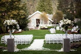 Elegant Backyard Wedding Ceremony