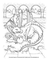 Treasure Dragon Coloring Page By TabLynn On DeviantART