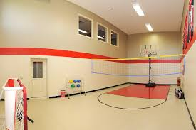 Amazing Basketball Court Floor And Wall Red Colour | Advice For ... Home Basketball Court Design Outdoor Backyard Courts In Unique Gallery Sport Plans With House Design And Plans How To A Gym Columbus Ohio Backyards Trendy Photo On Awesome Romantic Housens Basement Garagen Sketball Court Pinteres Half With Custom Logo Built By Deshayes