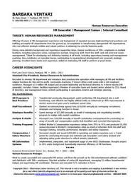 Sample Resume For An HR Manager