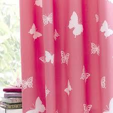 Light Pink Ruffle Blackout Curtains by Bright Butterflies Blackout Eyelet Curtains Dunelm Nursery