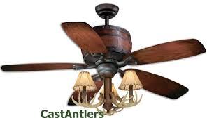 standard size fans 52 reproduction antler barrel ceiling fan