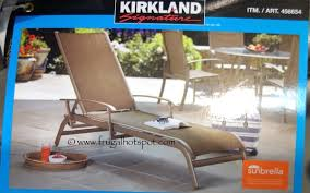 Kirkland Wicker Patio Furniture by Kirkland Signature Commercial Sling Chaise Lounge Costco