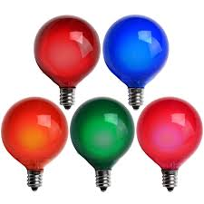 Pre Lit Christmas Tree Replacement Bulbs by G50 Multicolor Satin Bulbs E12 C7 Base Box Of 25 U2013 The