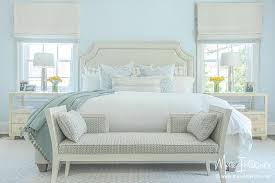 Ivory and Pale Blue Bedroom Transitional Bedroom