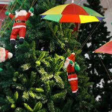 3D Xmas Santa Claus Tree Umbrella Pendants Hanging Christmas Decor Party