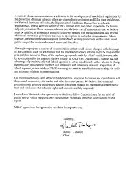 Letter of Transmittal to the President